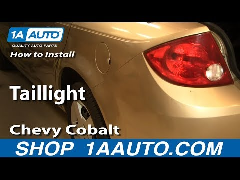 How To Replace Tail Light 05 10 Chevy Cobalt Youtube