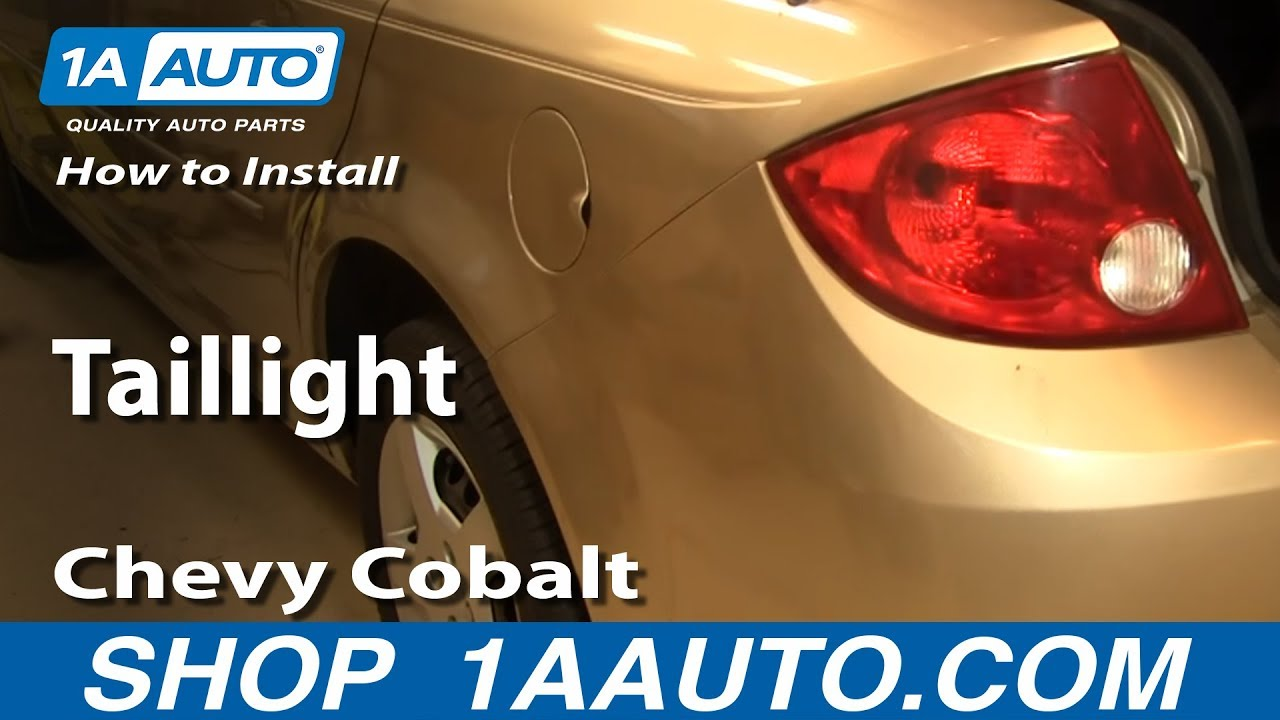 How To Replace Tail Light 05 10 Chevy Cobalt
