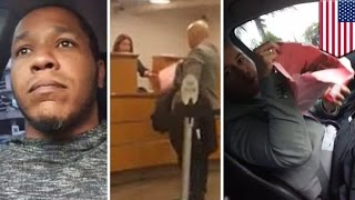 Kidnapped Uber driver streams bomb carrying passenger's bizarre Miami bank robbery   TomoNews