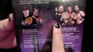 WWE Armageddon 2008 DVD Unboxing
