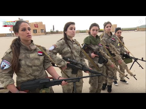 Syrian Christian girls defend their town from Western backed islamist terrorists