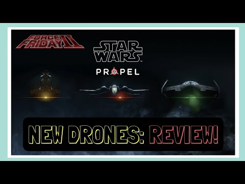 I got to try new STAR WARS Drones in NYC! Propel Star Wars Drone Review and Unboxing, #ForceFriday