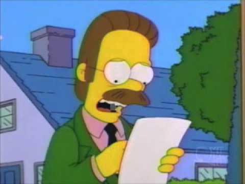 Homer proves there is no god to Flanders