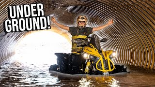 Water Wheelies UNDERGROUND! Abandoned Off-Road Park?