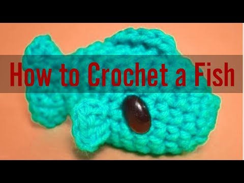 How To Crochet A Little Fish Easily Step By Step | Crochet Fish Pattern |