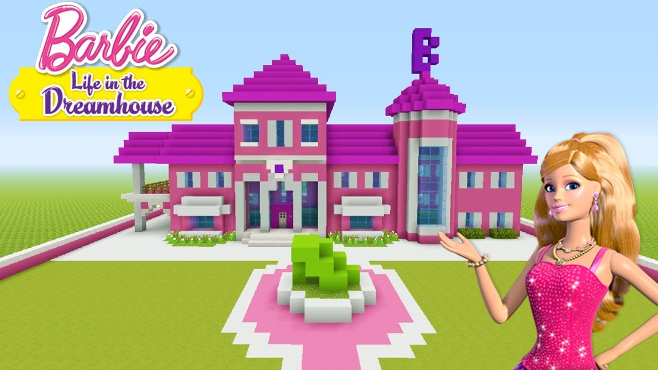 Minecraft Tutorial How To Make A Barbie House Barbie Life In The