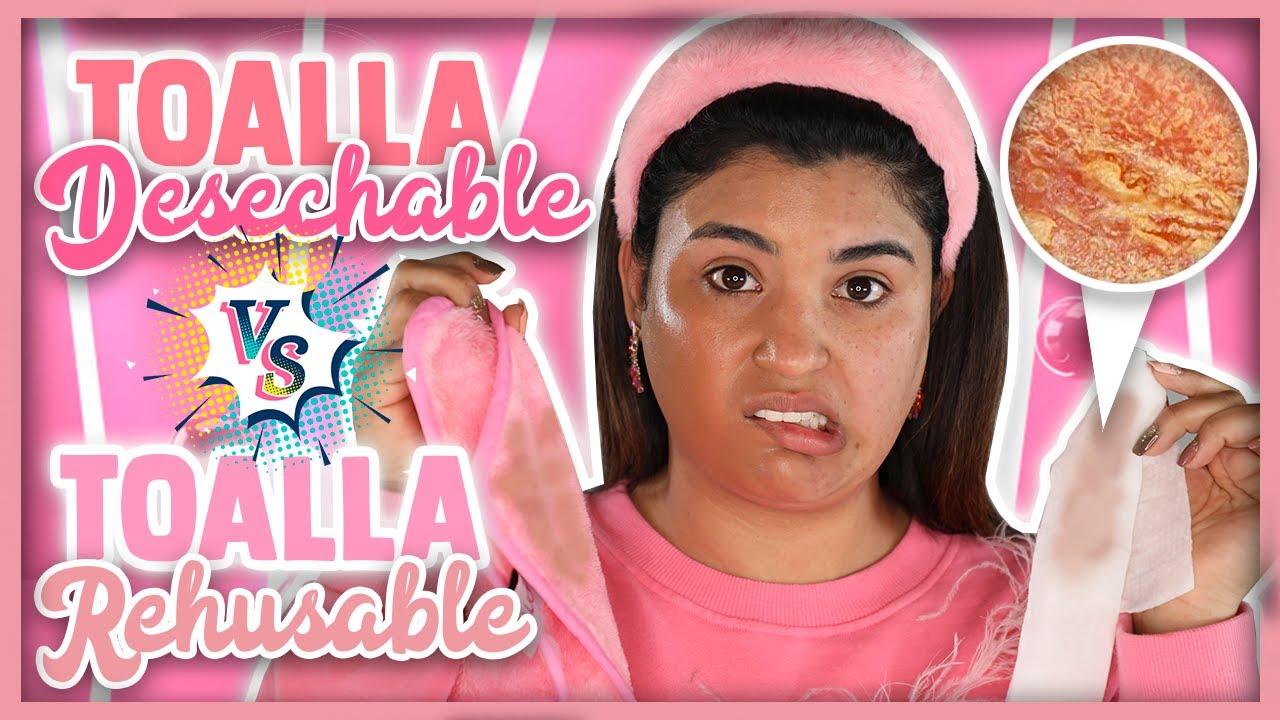 Trying TOALLAS DESMAQUILLANTES V.S. PAÑO REUSABLE DESMAQUILLANTE I ROCCIBELLA