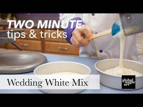 Wedding White Cake Mix | Two Minute Tips & Tricks | Global Sugar Art