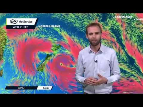 TCyclone Gita update for NZ for  Sunday 18th Feb [NZ Met Service]