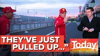 Bathurst 1000 winners late for live TV interview after big night celebrating | Today Show Australia