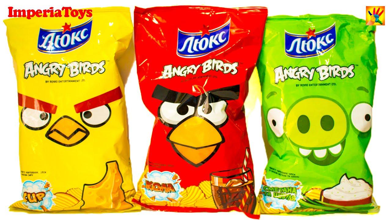 Angry Birds Potato Chips Чипсы ЛЮКС Кола Злые Птицы - YouTube Люкс Чипсы