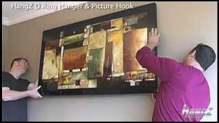 How To Video Hanging a very large picture with D Ring Hanger & Picture Hook 1