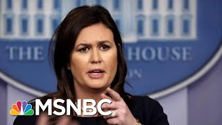 sarah-sanders-caught-lying-lies-msnbc