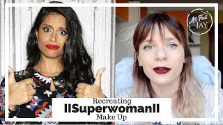 I Tried Following A IISuperwomanII Make Up Tutorial || Beauty Guru Minute