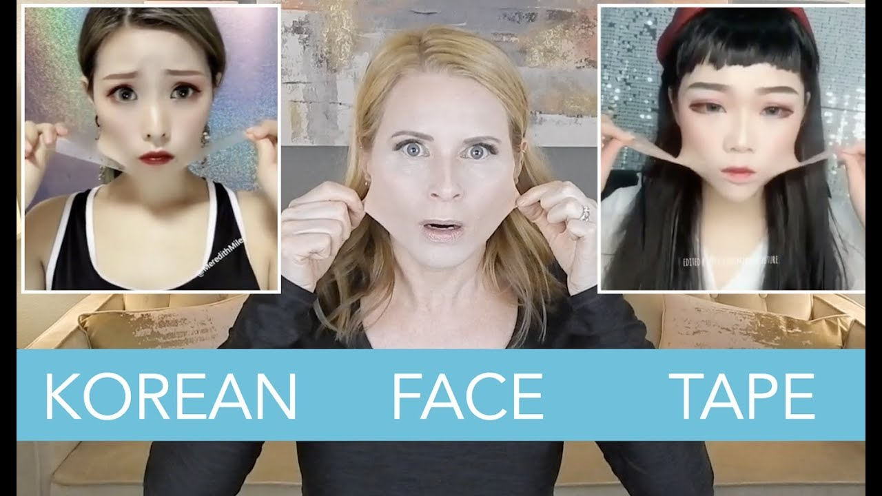 Korean V Shape Face Tape Because Instagram Skip2mylou Youtube