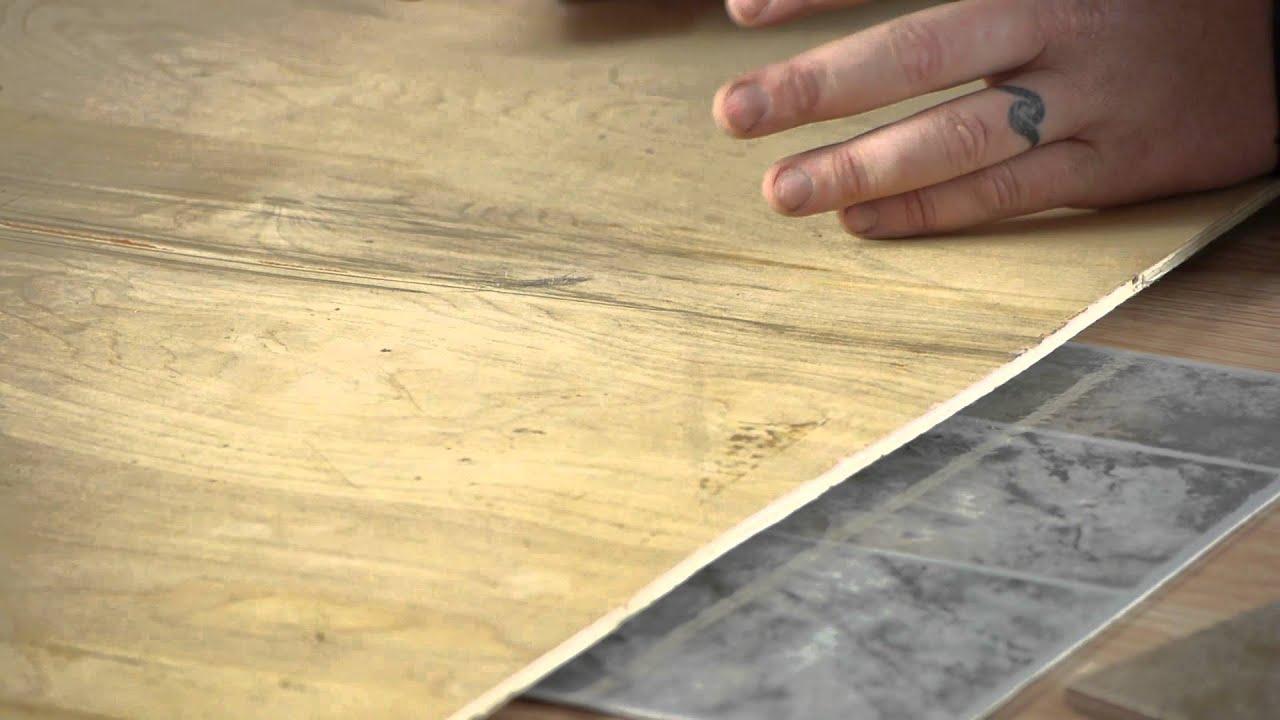 Problems Placing Ceramic Over Vinyl Tile : Tile Help - YouTube
