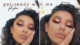 GET READY WITH ME - FULL GLAM MAKEUP & CURLY HAIR
