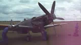 Spitfire Mk 18 Griffon engine run up, Duxford 2008.