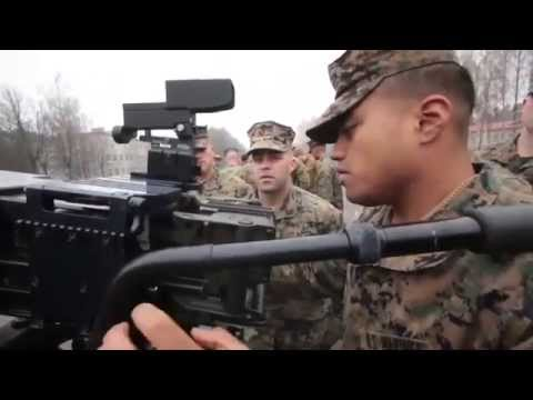 LATVIA!  U.S. Marines Train with Lativan Military Weapon Systems!