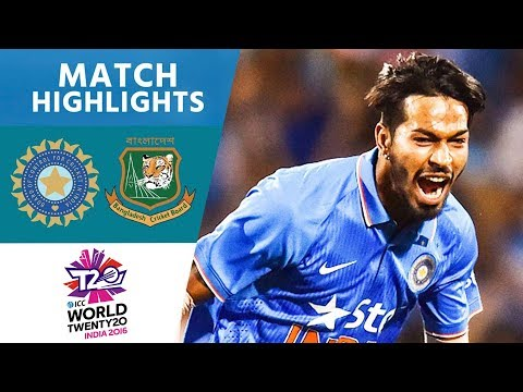 3 Wickets In Crazy Final Over! | India vs Bangladesh | ICC Men's #WT20 2016 - Highlights