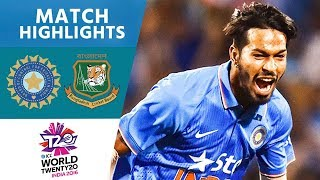 3 Wickets In Crazy Final Over! | India vs Bangladesh | ICC Men's #WT20 2016 - Highlights thumbnail