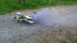 Summer 2015 Fly my Pitts Devil with Smoke Effect AX18 Blue selfmade holder
