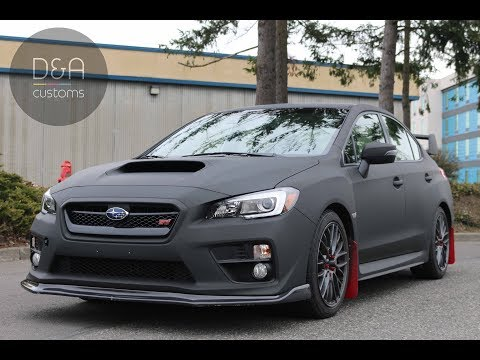 Subaru WRX STI  Matte Dead Black WRAP D&A Customs Seattle | Bellvue 3M 1080