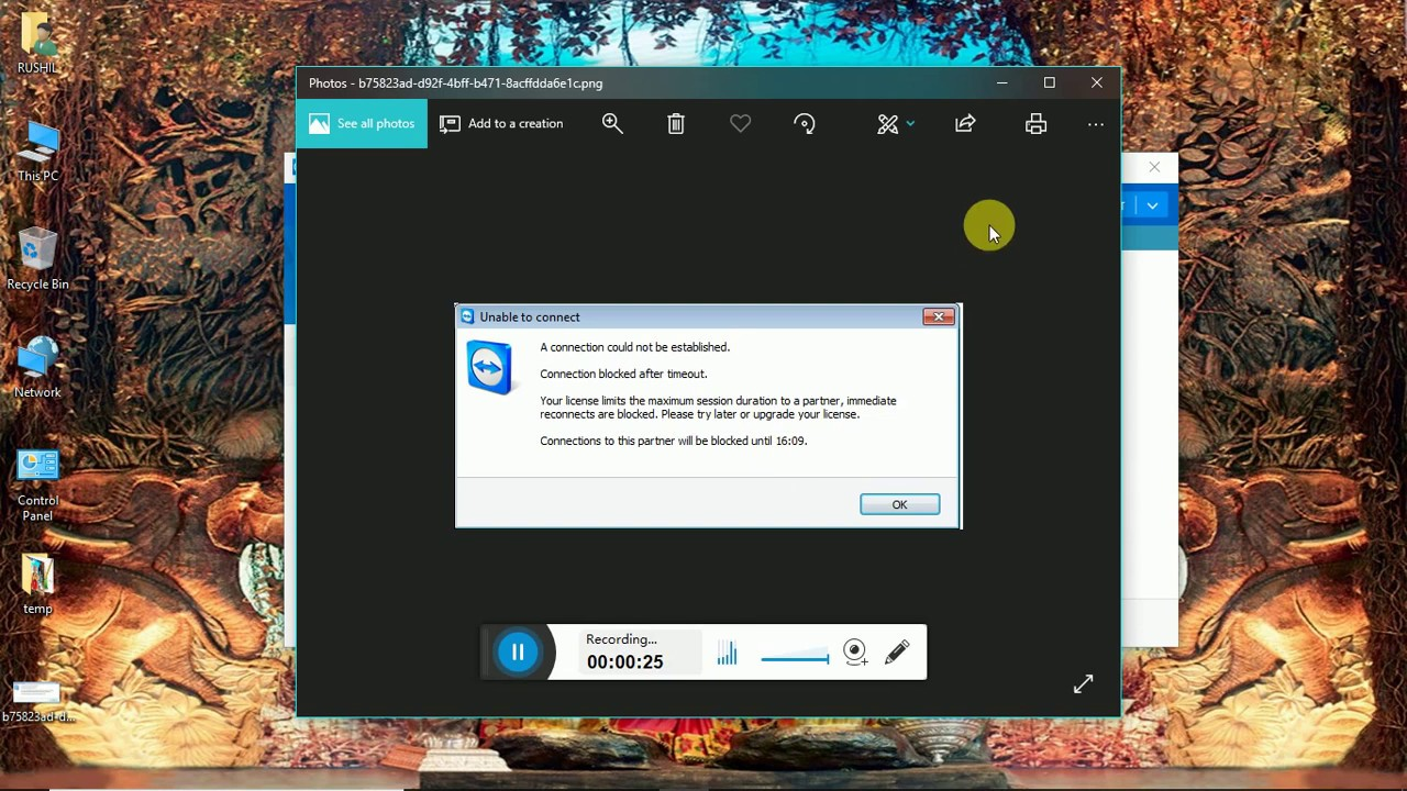 TeamViewer session timeout After few Minutes, Timing out inactive sessions