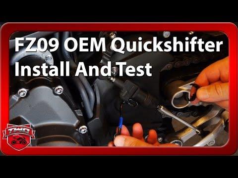 Yamaha OEM FZ09 FJ09 Quickshifter Install Testride BS2E81A0V000