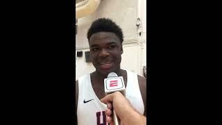 Jarace Walker: 2019 USA Basketball Junior Minicamp Interview