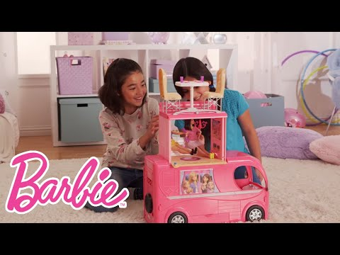 Hit the Road and Camp in Style with the Barbie®  Pop-Up Camper! | Barbie
