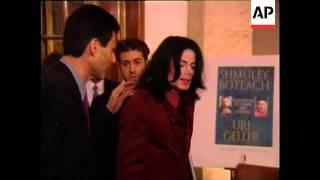 Michael Jackson in London, Uri Geller Book Launch
