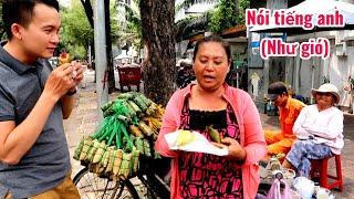 Chị gái Miền Tây nói tiếng anh (Như Gió) đi xe đạp bán bánh tét khắp Sài Gòn | saigon travel Guide