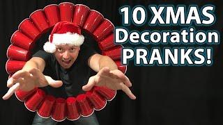 10 Holiday Decoration Prank Ideas (DIY How To Hacks & Pranks!)