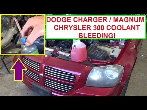 How to Bleed the Cooling System on Dodge Charger, Dodge Magnum, Chrysler 300