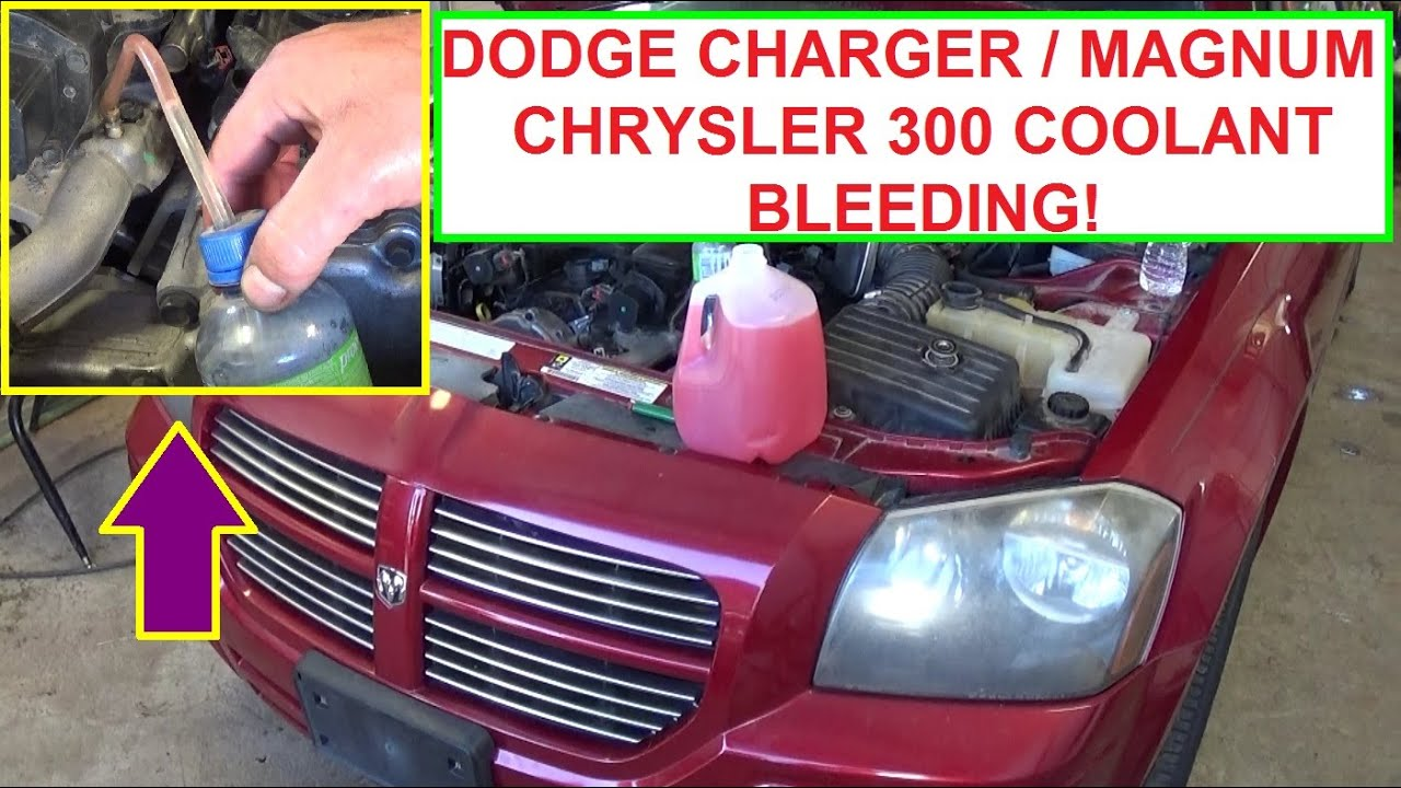 how to bleed the cooling system on dodge charger, dodge magnum