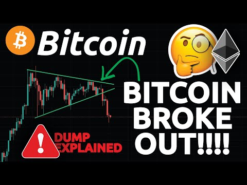 BITCOIN BROKE OUT!!!! BITCOIN FURTHER DUMP OR BOUNCE COMING ?!?! & ETHEREUM ANALYSIS