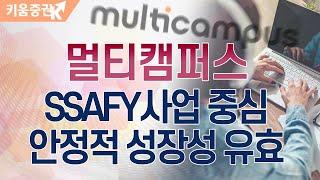 [주식투자][기업분석] 투데이스몰캡 / 멀티캠퍼스, …