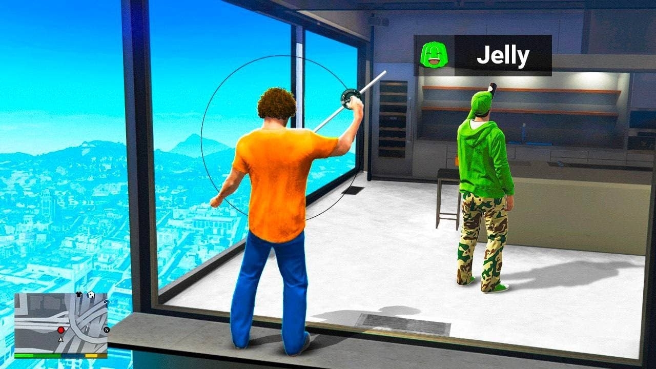Download BREAKING Into YouTuber HOMES In GTA 5 (Jelly, Caylus, Slogo, PewDiePie)