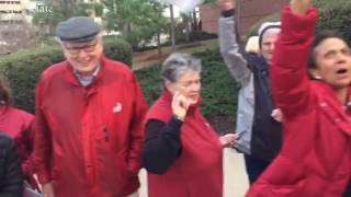 Gamecock Fans arrive at Colonial Life Arena to cheer on basketball team