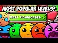 THE MOST POPULAR LEVELS FOR EACH DIFFICULTY IN GEOMETRY DASH!
