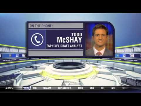 Todd McShay talks the NFL Draft on The Michael Kay Show