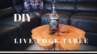 Making a Beautiful LIVE EDGE OAK Coffee Table