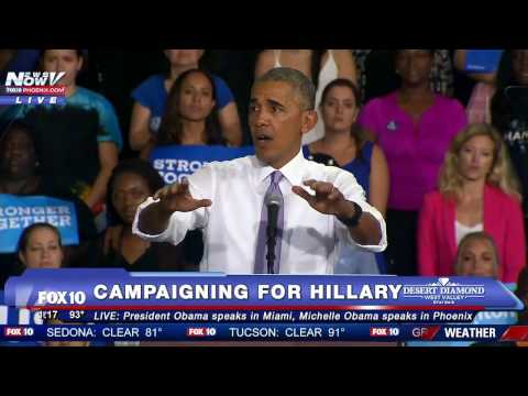WATCH: Barack Obama Campaigns for Hillary Clinton in Miami - FNN