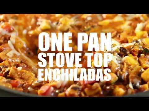 One Pan Stove Top Enchiladas