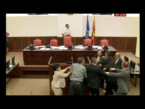 Fight club in Macedonian Parliament session - no comment