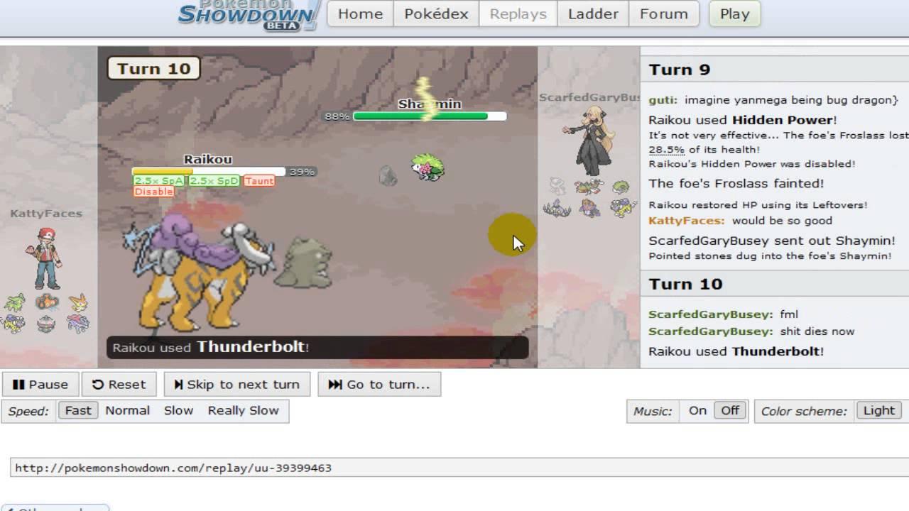 pokemon showdown replay