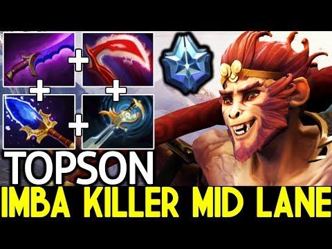 TOPSON [Monkey King] Imba Killer Mid Lane Master Level 25 Kills 7.22 Dota 2