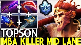 TOPSON [Monkey King] Imba Killer Mid Lane Master Level 25 Kills 7.22 Dota 2