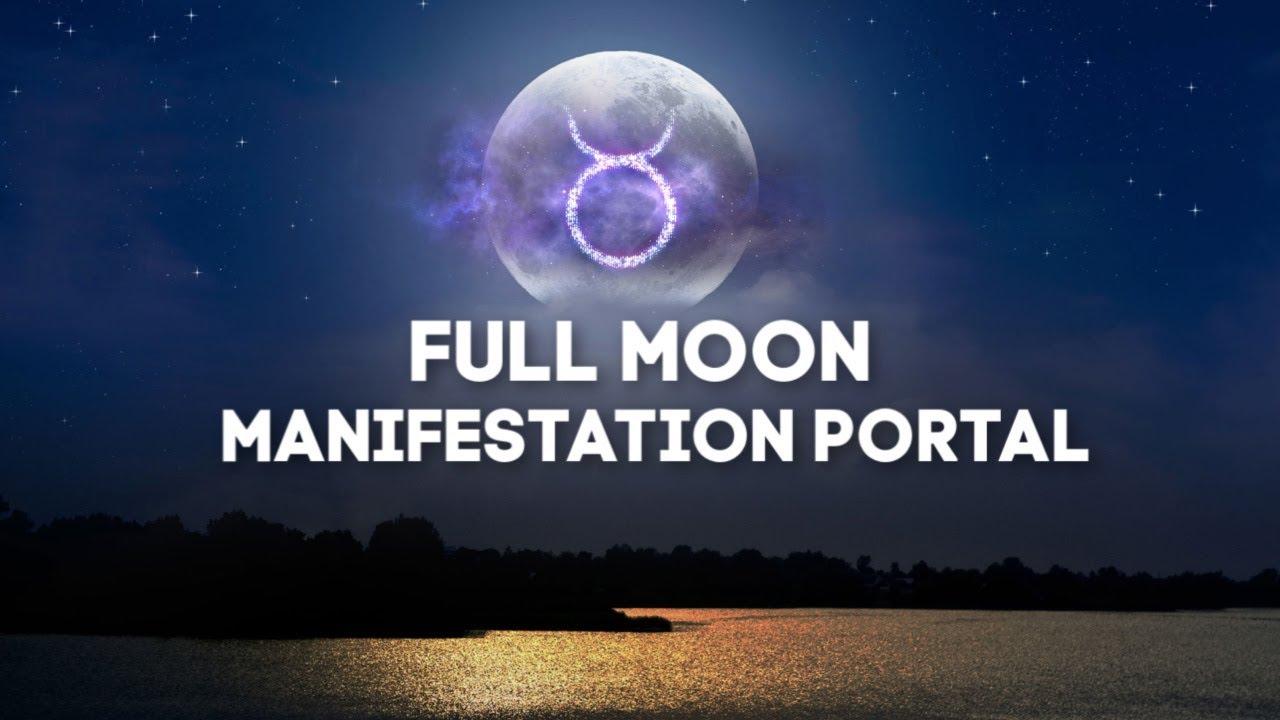 FULL MOON MANIFESTATION PORTAL   528hz   FREQUENCY SLEEP ...